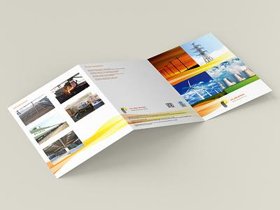 Brochure design done for 30 year old industrial company. brochure design type typography minimal logo illustrator identity design branding