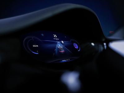 HMI design for electric vehicle visualization uiux ui visual identity sport electric speed dashboard cluster app visual design car hmi vehicle automotive visual