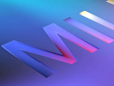 3D typeface intro c4dtoa c4dart c4d 3dsmax color palette colorful colour color 3d art cube squares square typefaces milkinside logo intro 3d typeface