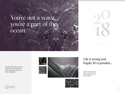 Art Direction Exploration design web ui typography layout tile style direction art