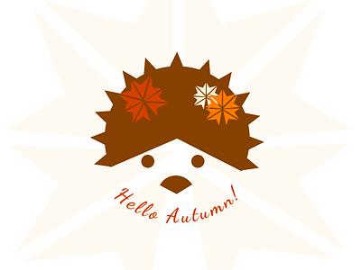 Autumn Badge badge dribbbleweeklywarmup