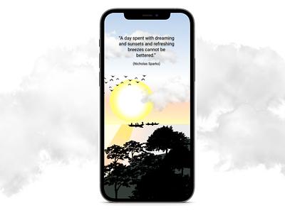 Sunset Mobile Wallpaper design mobile dribbbleweeklywarmup