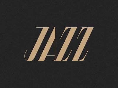 Jazz typography jazzmusic