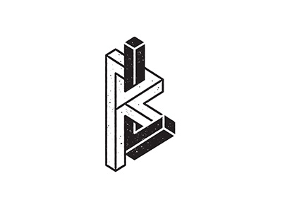 RL Monogram logo monogram blackandwhite geometric