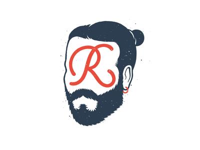 Roms beard blueandred r head