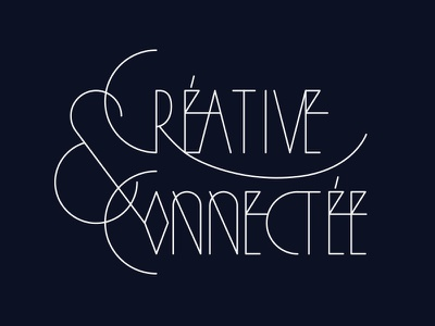 Creativeconnect geometry typography