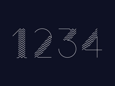 1234 geometry typography numbers