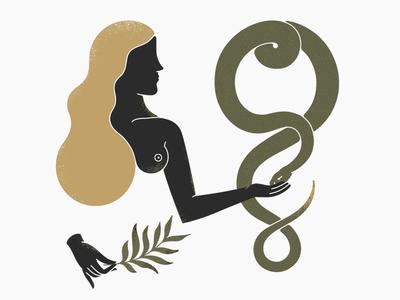 Hygie snake goddess mythology