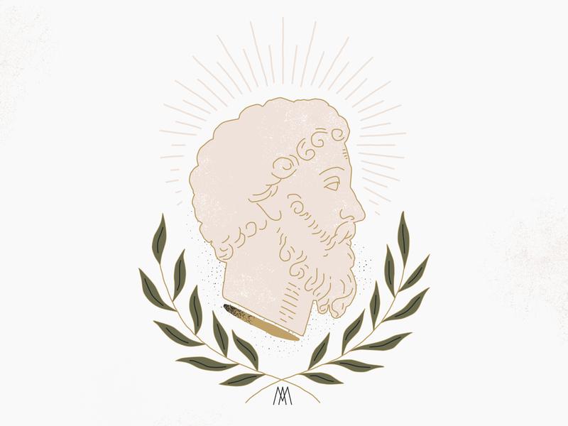 Marc Aurèle - Pour moi même portrait emperor philosopher statue