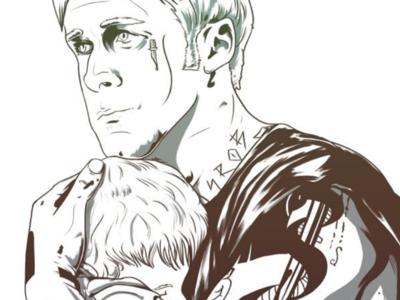 Place Beyond The Pines film movie tattoo ryangosling placebeyondthepines drawing artwork digital sketch illustration art