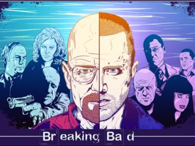 Breaking Bad poster print artwork breakingbad drawing sketch digital illustration art