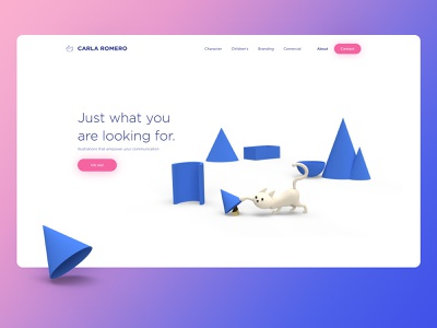 Landing Page dailyui landingpage ui cat illustration
