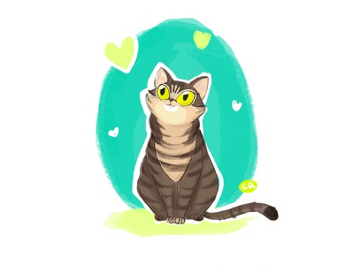 Nymeria drawing tabby animal character character design illustration cat