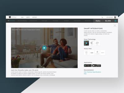 Smart Home Integrations b2c ecobee nest webdesign desktop smarthome fan ceilingfan