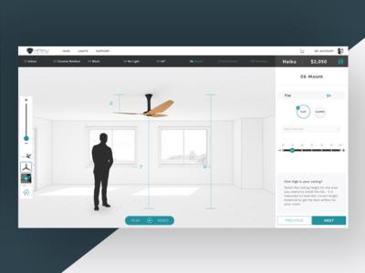 Select Ceiling Height b2c ecobee nest webdesign desktop smarthome fan ceilingfan
