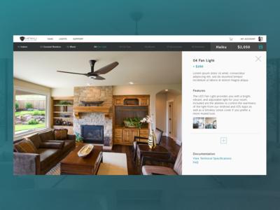 Light Kit Info b2c ecobee nest webdesign desktop smarthome fan ceilingfan
