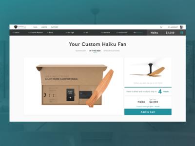Summary b2c ecobee nest webdesign desktop smarthome fan ceilingfan