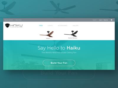 Product Site Nav b2c ecobee nest webdesign desktop smarthome fan ceilingfan