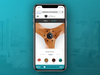 Mobile design for custom fan
