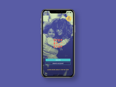SBS App Welcome Screen visual identity visual design ux design ux ui image background landing page duotone duo tone splash screen non-profit sign in welcome mobile app design