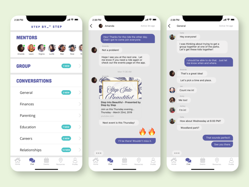 SBS  App Messaging social app mentor mentoring group chat conversation messaging message app message chat ios mobile app mobile non-profit
