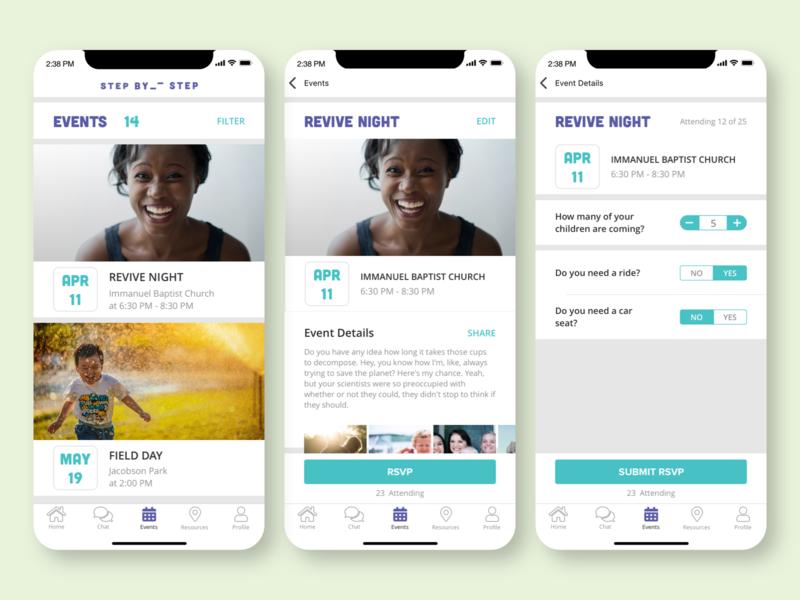 SBS App Events selector picker schedule calendar ui  ux design non-profit non profit mobile app events app events