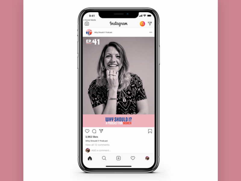 Why Should I? Podcast Social Post Layout instagram template instagram stories instagram post instagram women womens day women empowerment podcast logo podcast art podcasting podcast design podcasts podcast marketing socialmediamarketing socialmedia social media