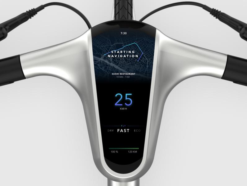 Angell Bike dashboard redesign concept electric dashboard concept bike electric bike