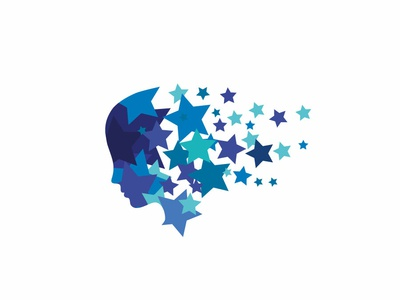 Star face leotroyanski icon design face logo face star logo flat