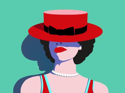 Anastasia leotroyanski design vector illustration face flat portrait illustration portrait pop art