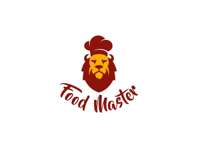 Food Master logo design food delivery branding cook lion food leotroyanski flat design vector logo