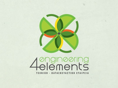 4 Engineering Elements corporate identity design logo construction energy buildings architecture structural design topographic
