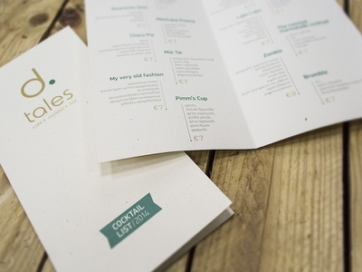 D.Tales Cafe-Bar dtales drinks bar list catalog catalogue menu cocktail