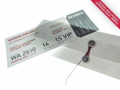 Wedding Airlines Invitation awarded design invitation wedding