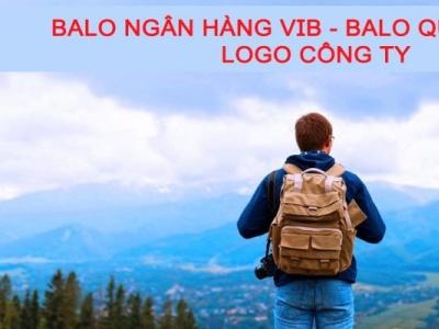 Balo ngân hàng VIB - Balo quà tặng in logo công ty thehien balotuixachviet