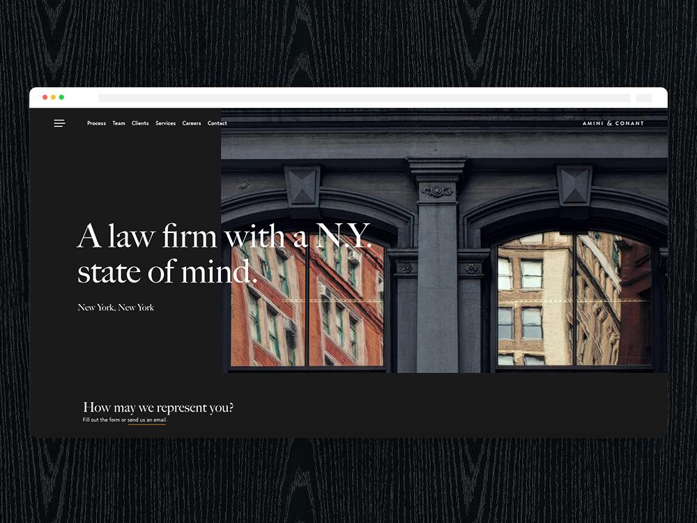 A&C: Contact serif dark theme web design ux ui dark ui