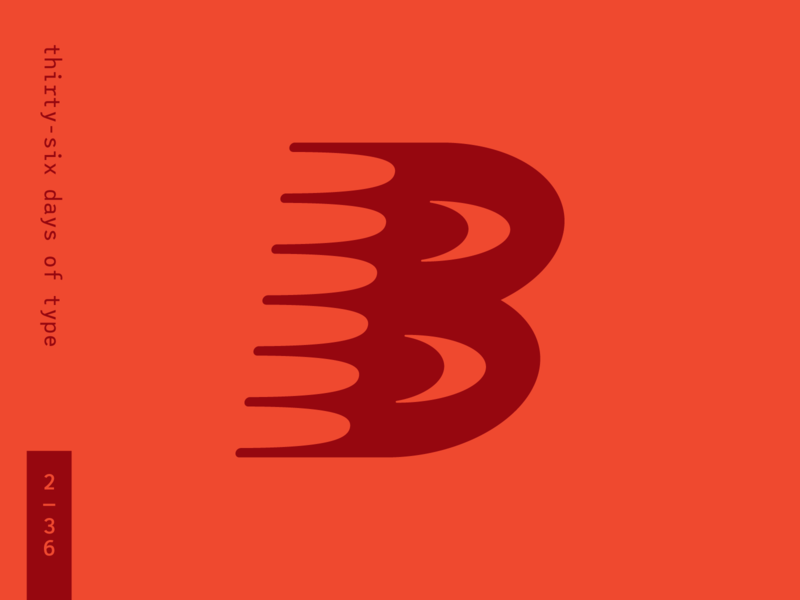 36 Days of Type – Spiky B Boi dropcap custom type b lettering vector branding type typography illustration design 36daysoftype