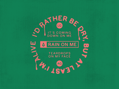 Rain On Me, Tsunami design badges type typography icon vector branding logo badge music ariana grande chromatica rain on me lady gaga