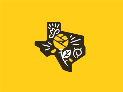 Yellow Rose sticker badge illustration vector branding design icon howdy yeehaw cowboy cowboy hat thorn yellow rose texas