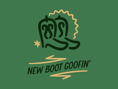 New Boot Goofin new cowboy boots cowboy type typography badge logo vector branding design icons texas reno 911 boot yeehaw western