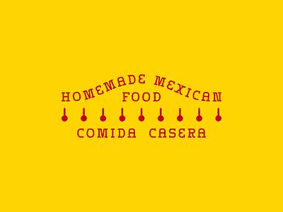 Comida Casera typography badge vector design branding restaurant tacos spanish comida mexican food mexican