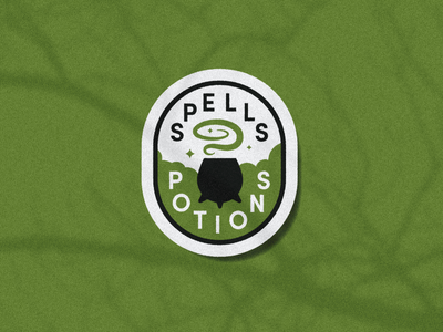 Spells & Potions Merit Badge harry potter potions spell magic cauldron scout badge halloween witchcraft witch