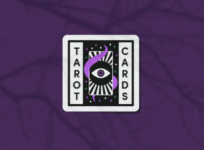 Tarot Cards Merit Badge witch spooky halloween scouts merit badge badge magic fortune cards horoscopes tarot