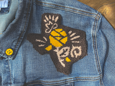 Texas Rose Patch austin sticker badges vector design branding western yeehaw icon rose patch badge texas punch needle punchneedle