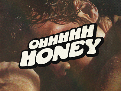 Oh Honey type typography badge vector illustration design branding rupaul dragrace cooper logo lettering 70s honey drag trixiemattel