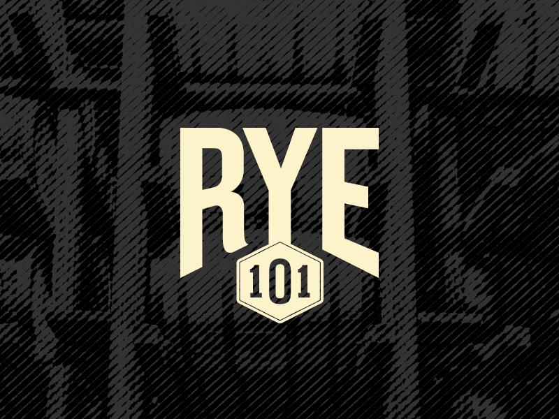 Rye 101 Logo mark badge kansas city design branding barrel rye logo whiskey