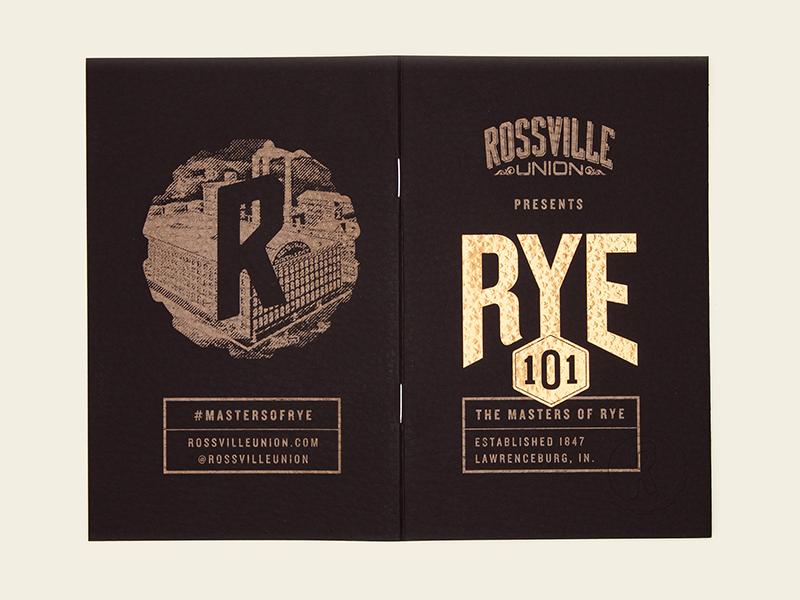 Rye 101 Cover design kansas city book cover copper gold badge whiskey rye book branding