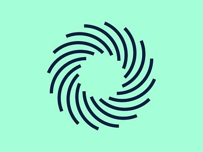 Spinnin' Around branding vector kansas city design smile swirl sun mark identity logo