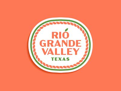 Rio Grande Valley - Warmup #1 dribbbleweeklywarmup fruit citrus grapefruit branding type badge sticker texas rio grande valley