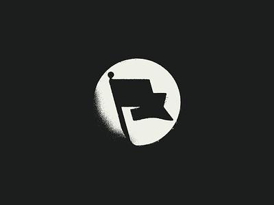 Black Flag distressed design vector black grunge flag mark icon branding